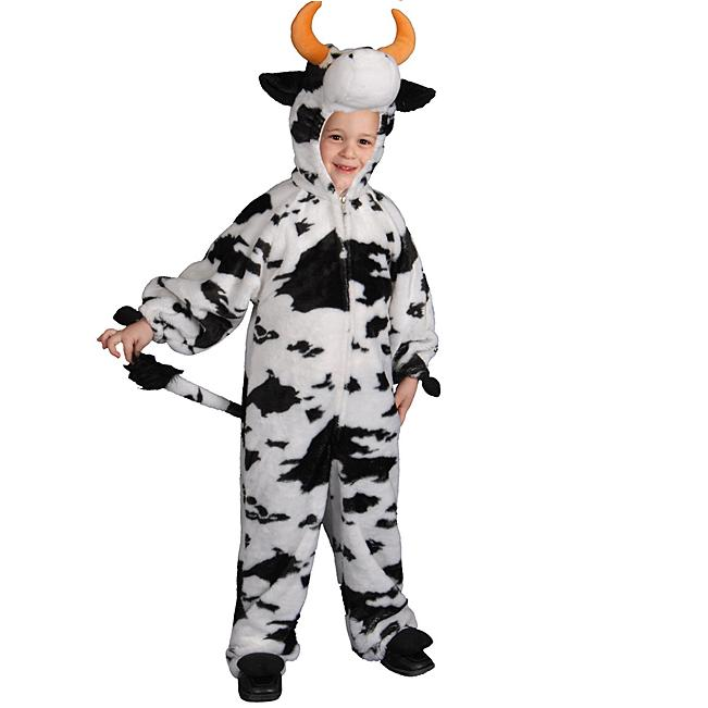 Boy&#8217;s Plush Cow Haloween Costume